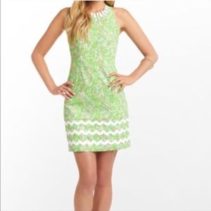 Lilly Pulitzer Green Beaded Alligator Dress